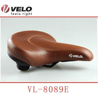 VELO double density ebike parts comfortable Brown electric bicycle saddle