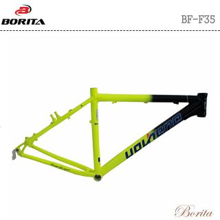 BORITA BF-F35 Black ' n ' Yellow Aluminum Alloy High Quality Road Bicycle Frame