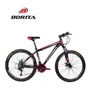 Borita 26 Inch 24 Speed Disc Brake Ball Bearing Wheelset al 6061 Frame MTB